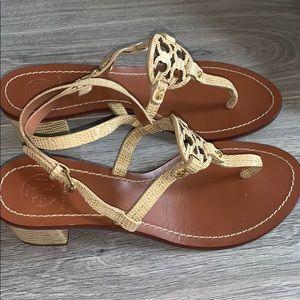 Tory Burch Shoes - Tory Burch snake skin Leather Thongs w/Heels